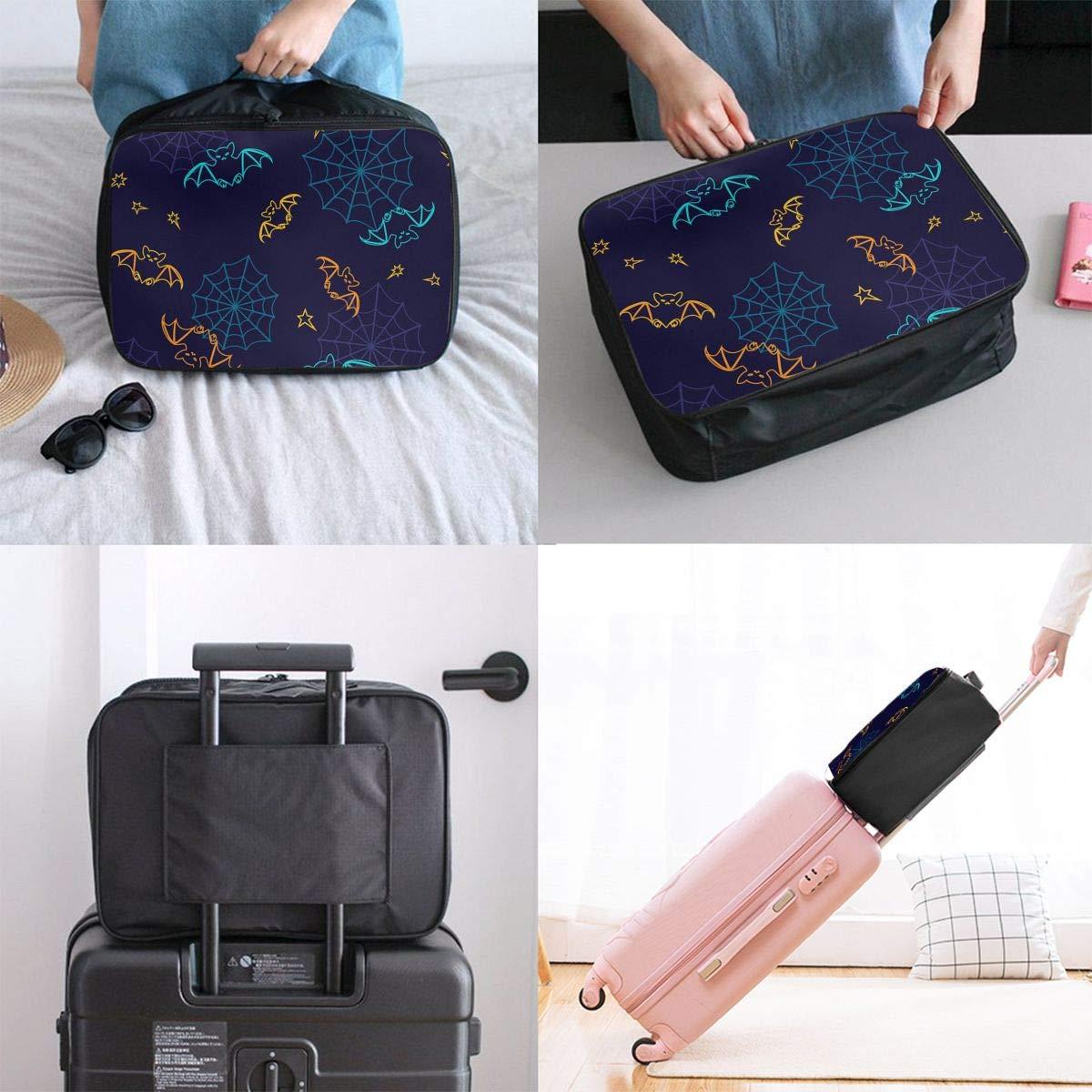 Women /& Men Foldable Travel Duffel Bag Colorful Bats For Luggage Gym Sports