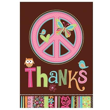 Amazon.com: Hippie Chick Cumpleaños Notas de agradecimiento ...