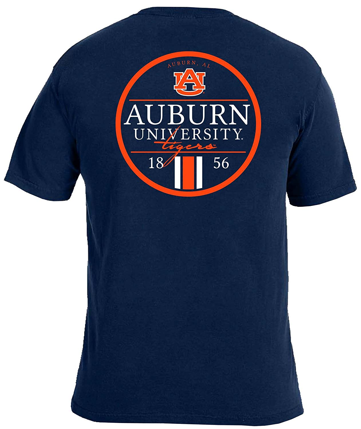 Image One Adult Unisexs NCAA Simple Circle Lines Short Sleeve Comfort Color Tee