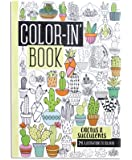 OOLY, Color-In' Book, Travel Size, Cactus & Succulents, 24 Pages (118-166)