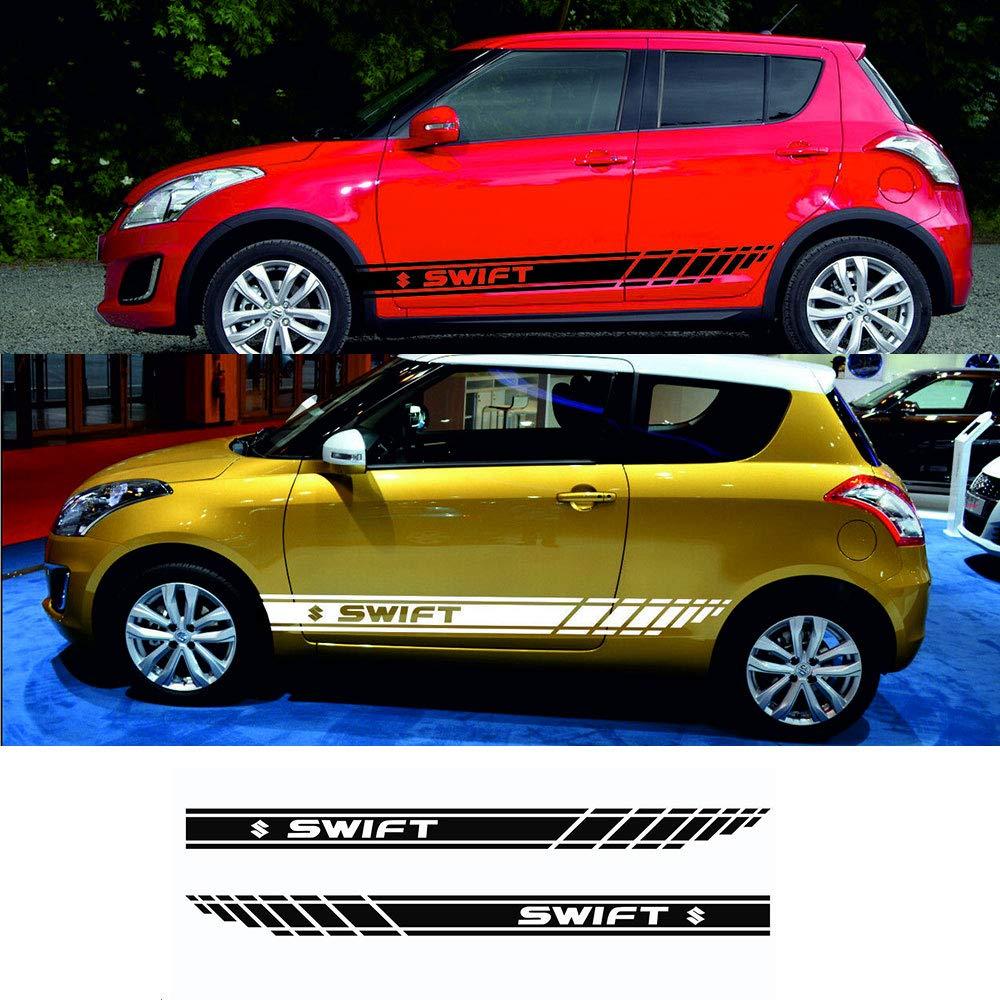 Amazon com for suzuki swift 2x side stripes graphics vinyl body decals car sticker logo red automotive