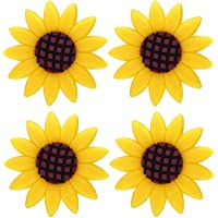 YUPVM 4 Pcs Car Sunflower Accessories Car Air Freshener Sunflower Air Vent Clips Air Vent Decorations Perfume for Cars
