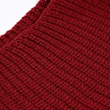 UOFOCO Loose Sweater Pullover Women's Knitted Dress Round Neck Long Sleeve Mini Dress Red