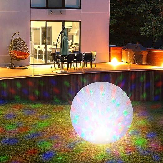 Boule lumineuse Jardin Décoration Extérieur Lampe granit pierre éclairage Diamètre 50 cm