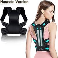Lovebay Haltungskorrektur, Komfortabeler Rückenstabilisator Haltungstrainer für Damen und Herren, mit 2 weichen Polster lindern Schulter, 2 abziehbaren Schienen für Starke Unterstützung