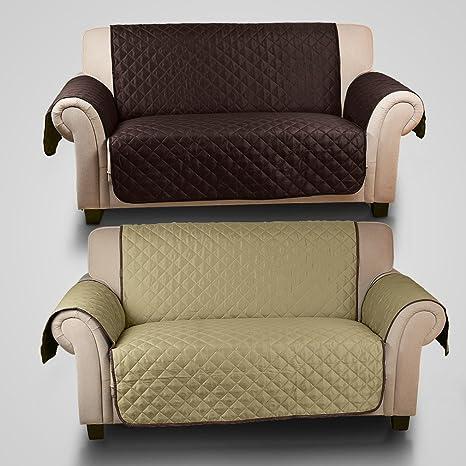 KINLO Cubre sofá/Funda de sofá/Protector para sofás Anti Sucio, Evitar el rascado para Mascota - 2 plazas(167cm*112cm),Ambos Lados están ...
