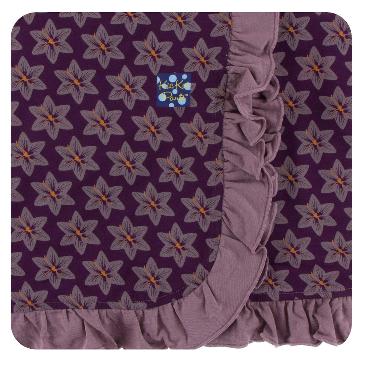 85de2c074 Amazon.com: Kickee Pants Little Girls Print Ruffle Stroller Blanket African  Violets, One Size: Clothing