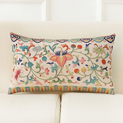 More Colors Modern Chinese Style Pillow PP Cotton Back Cushion Pillowcase  For Sofa N 30x50cm