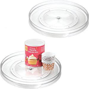 "iDesign Linus Turntable Kitchen, Pantry or Countertop Organization, 11"" Inch, Clear, 2 Set"