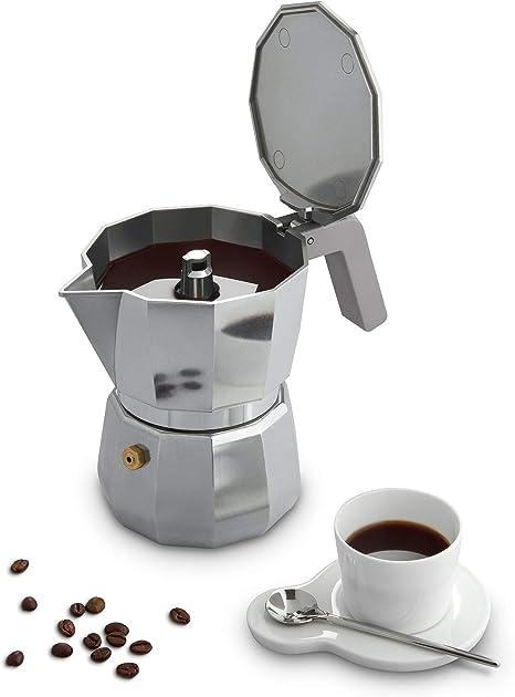 Alessi DC06/3 Moka Espresso coffee maker, 3 cups, grey