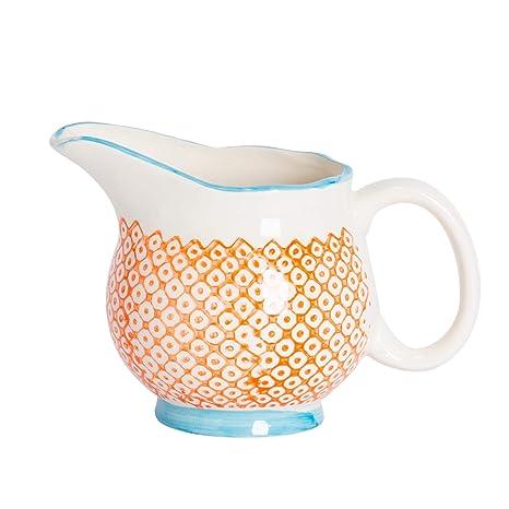 Amazon.com: Patterned Leche/Gravy/Crema jarra de porcelana ...