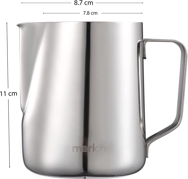 Mari Chef/ /600/ml en acier inoxydable Lait Pichet Pichet mousser Tasse /à mesurer avec marquages de Interne