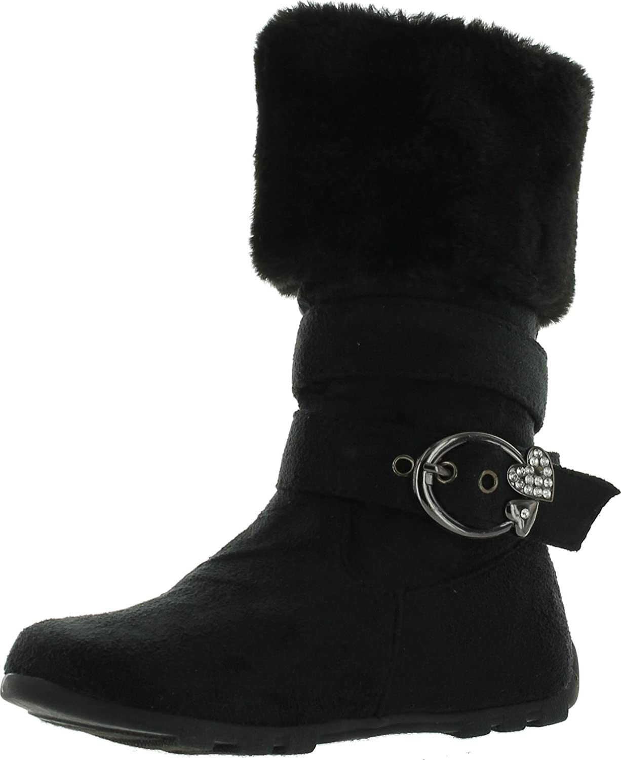 Amazon.com | Rosegirl Girls Slouch Comf Tall Midcalf Suede Winter Boots Shoes | Boots
