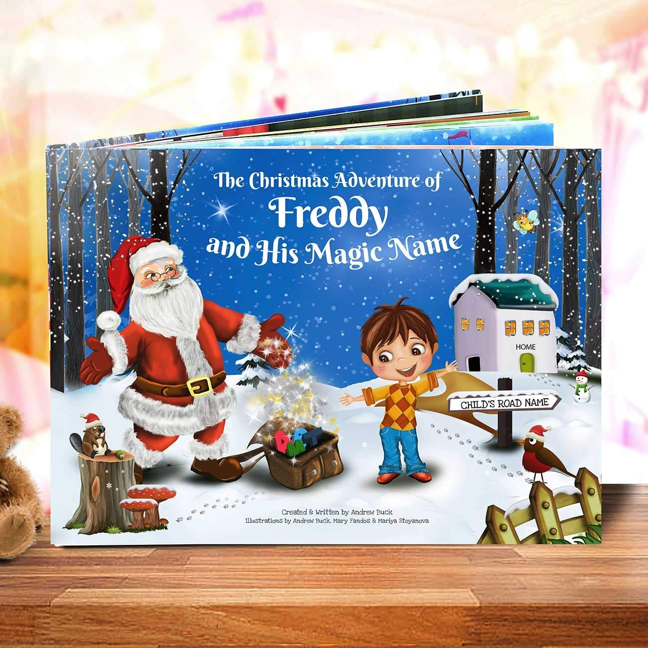 Customised Christmas Story Book - Totally Unique for Every Child - Great Xmas Present for Kids - Stocking Filler