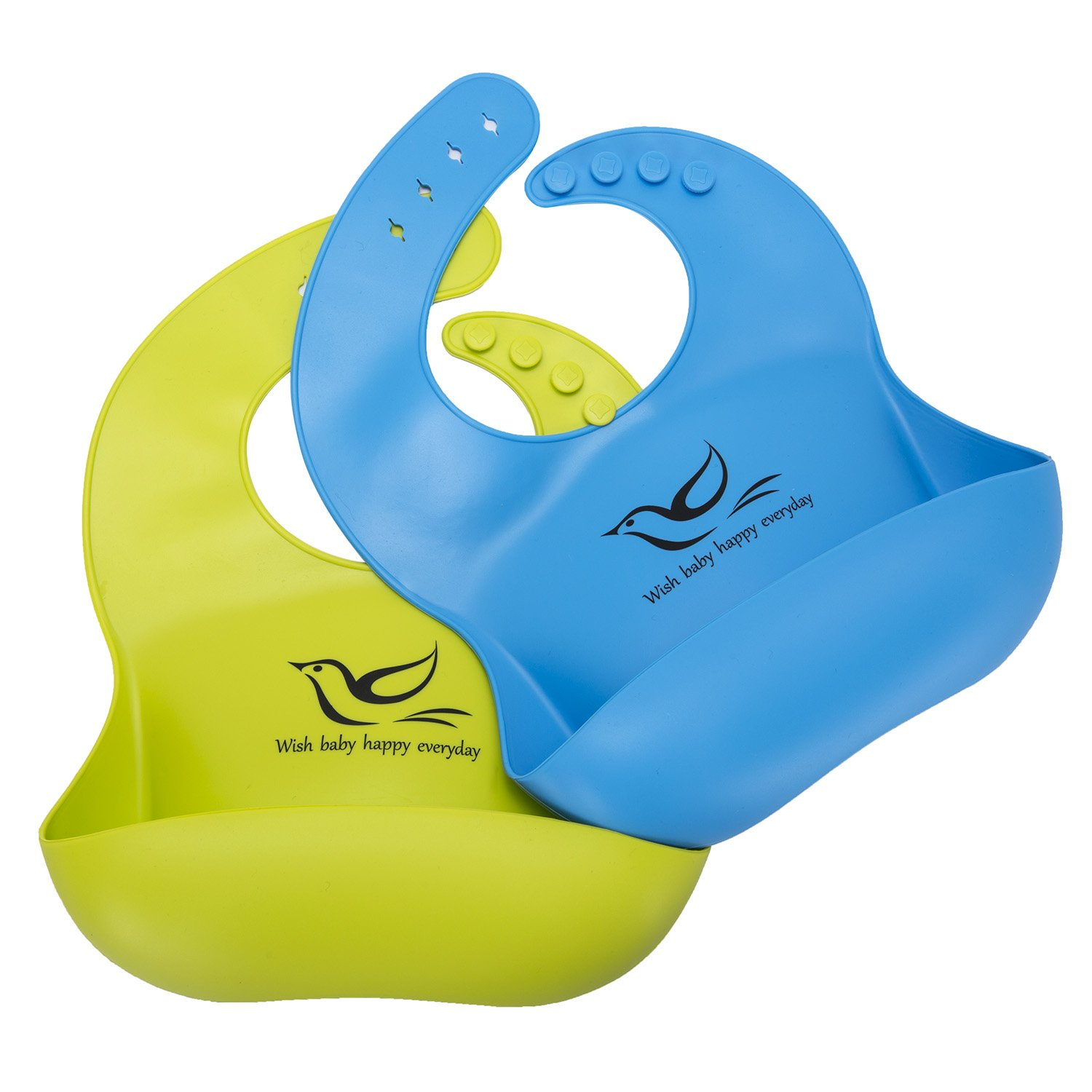 Dreamslink Dreamslink Silicone Baby Bib Comfortable for Babies and Toddlers, Blue Green, Blue Green