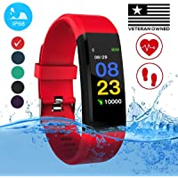 Burn-Rate Fitness Tracker Heart Rate Monitor - Smart Watches for Women Men Color Smart Watch Fit Bracelet Reloj Inteligente Band Pedometer, Waterproof, Distance bit Android & iOS