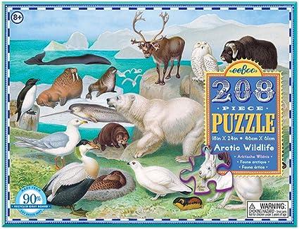 eeBoo 208 Piece Puzzle Arctic