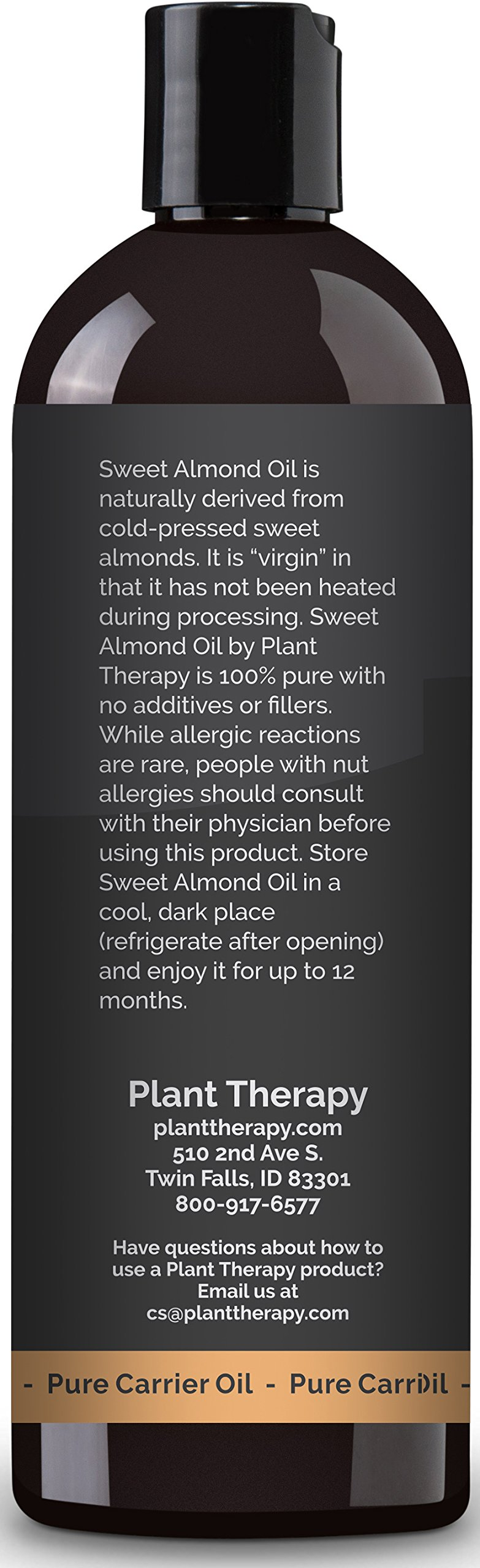 Plant Therapy Sweet Almond Carrier Oil + PUMP. A Base Oil for Aromatherapy, Essential Oil or Massage Use. 16 oz. by Plant Therapy (Image #3)