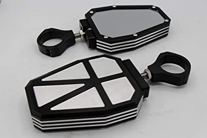 "2 x ALUMINUM UTV Side Mirrors 1.75/"" Polaris Ranger RZR 800//900//1000 Can-Am US"