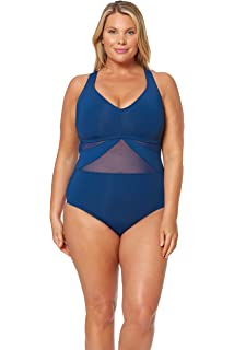 2cdc59f12f Bleu Rod Beattie Women's Plus Size Shirred Bandeau One-Piece ...