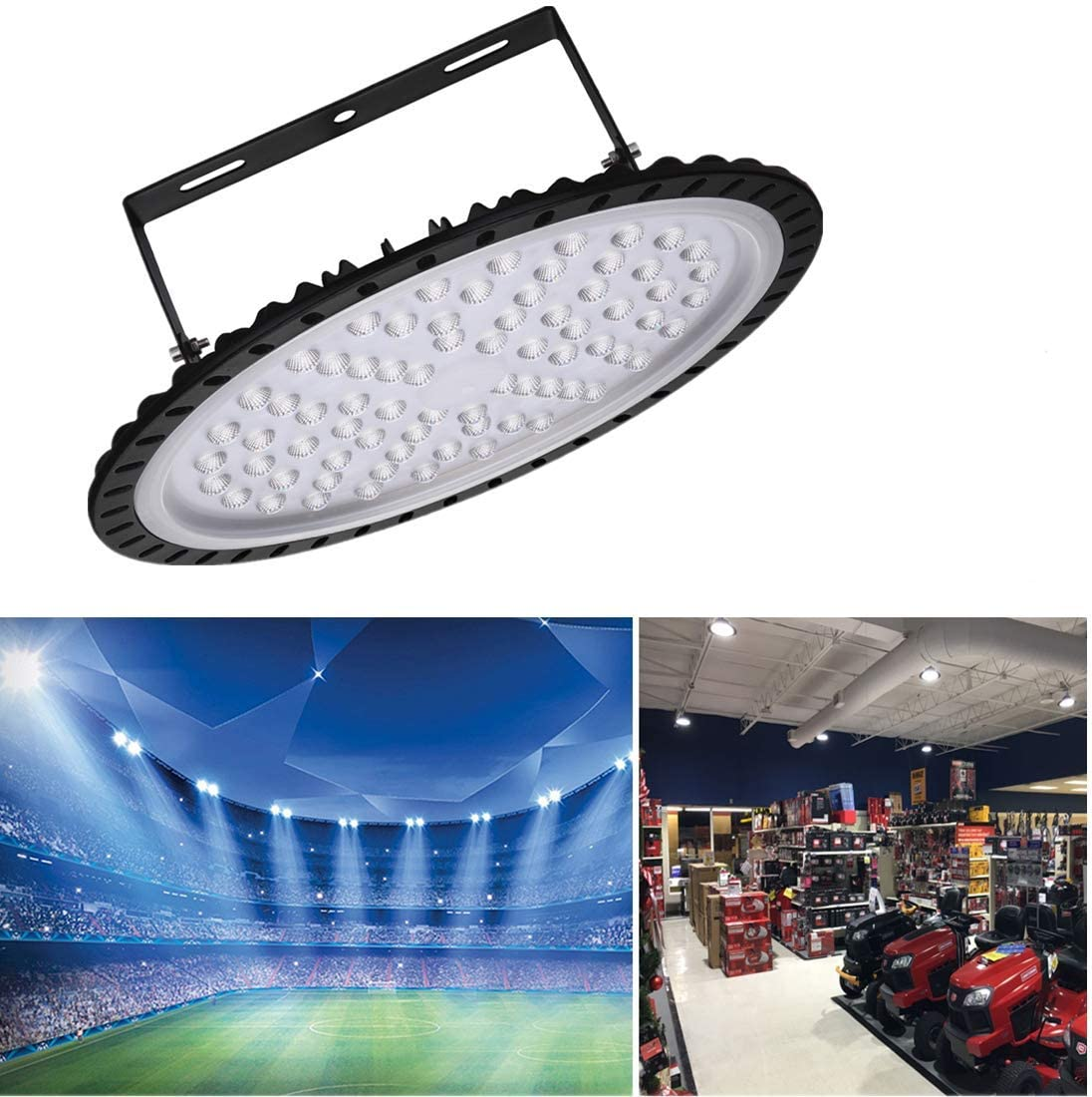 300W 200W 100W UFO LED High Bay Light Warehouse Industrial Commercial Gym Lamp