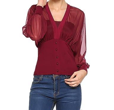 Y Mujer Meaneor Camisas es Accesorios Para Ropa Amazon wxFYFq6gA