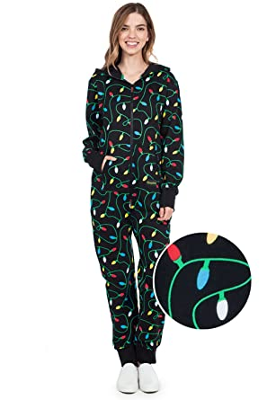 Tipsy Elves Black String of Christmas Lights Jumpsuit - Ugly Christmas  Sweater Party Adult Onesie  15c002cd9