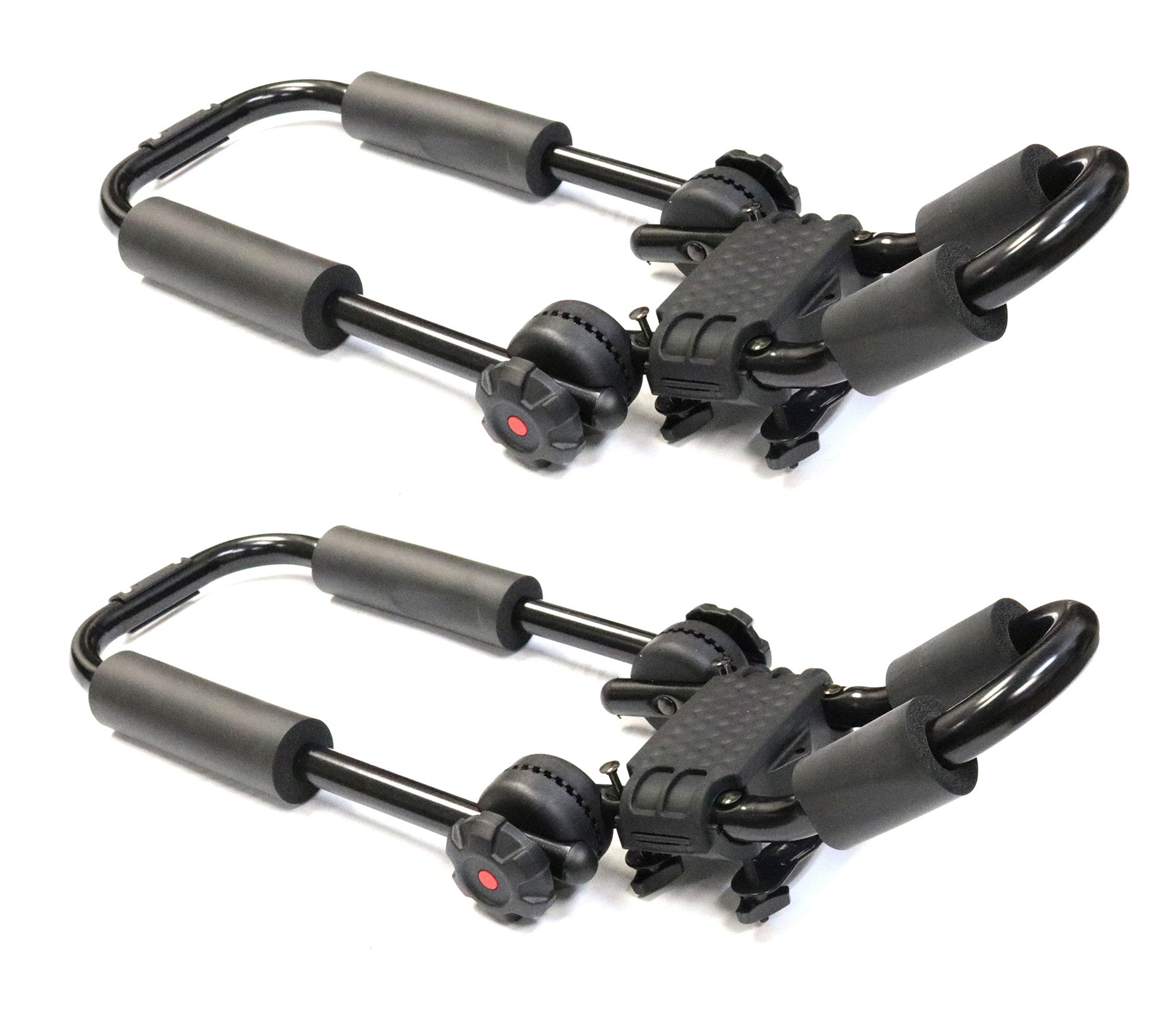 TMB Universal Dual Kayak Mounting System V2 fits most Vehicles Equipped with Cross Bars