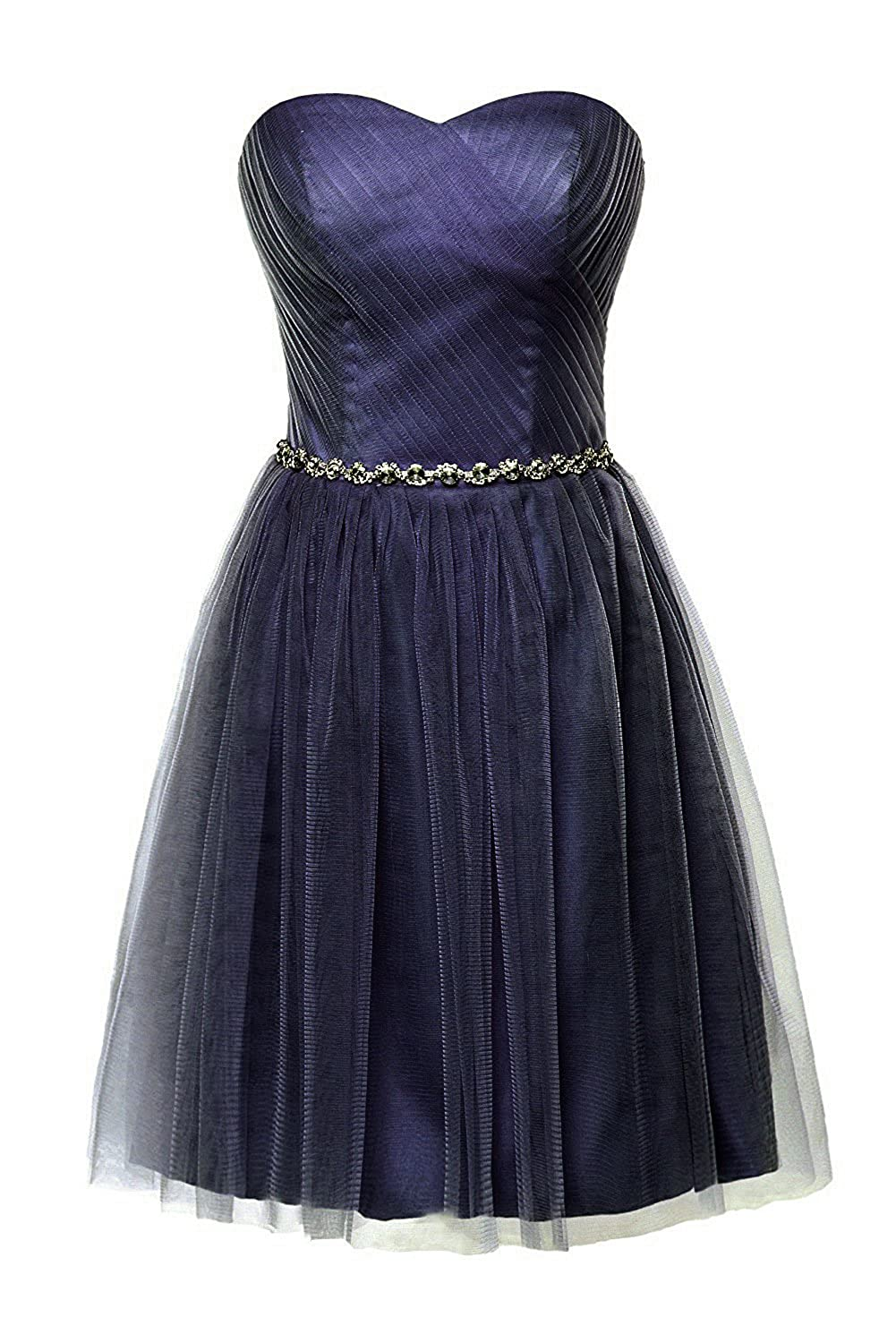 Navy Victoria Prom Women Short Bridesmaid Dress for Junior Sweetheart Beads Girls Party