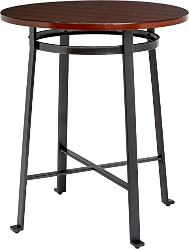 Ball Cast Bar Table – 42 Inch, Rustic Brown