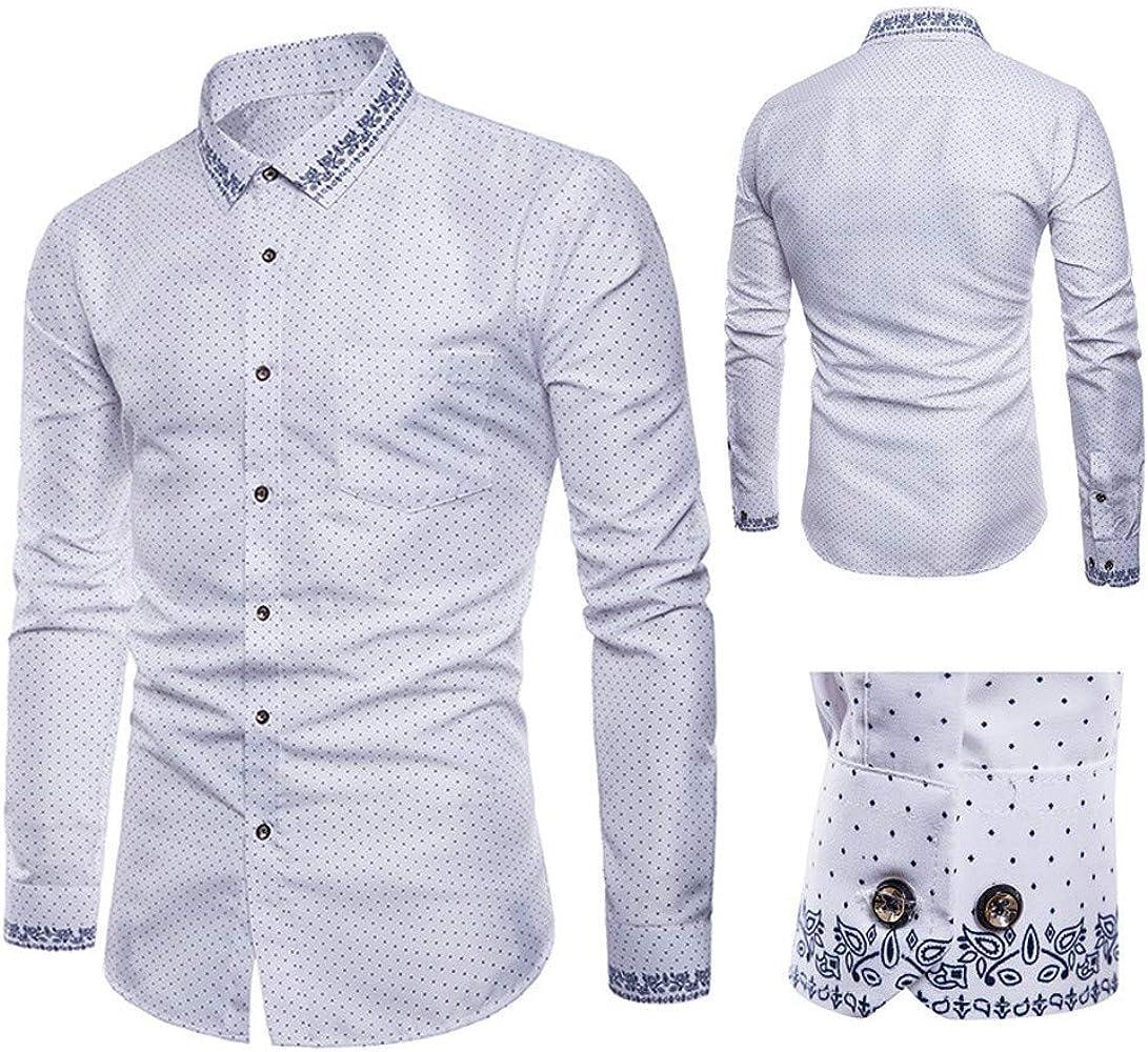 Rawdah_Camisas De Hombre Camisas De Hombre De Vestir Camisas De Hombre Blancas Camisas De Hombre Talla Grande Camisas Hombre Slim Camisas De Hombre Verano Manga Larga Camisas: Amazon.es: Ropa y accesorios