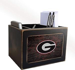 Fan Creations NCAA Georgia Bulldogs Distressed Team Logo Desktop Organizer with Color