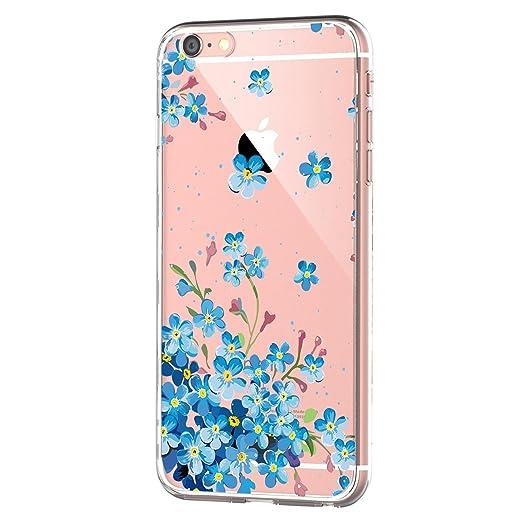 668da8fedc iPhone 6 Case,iPhone 6s Clear Case,Floral Pattern Slim TPU Bumper  Protective Case