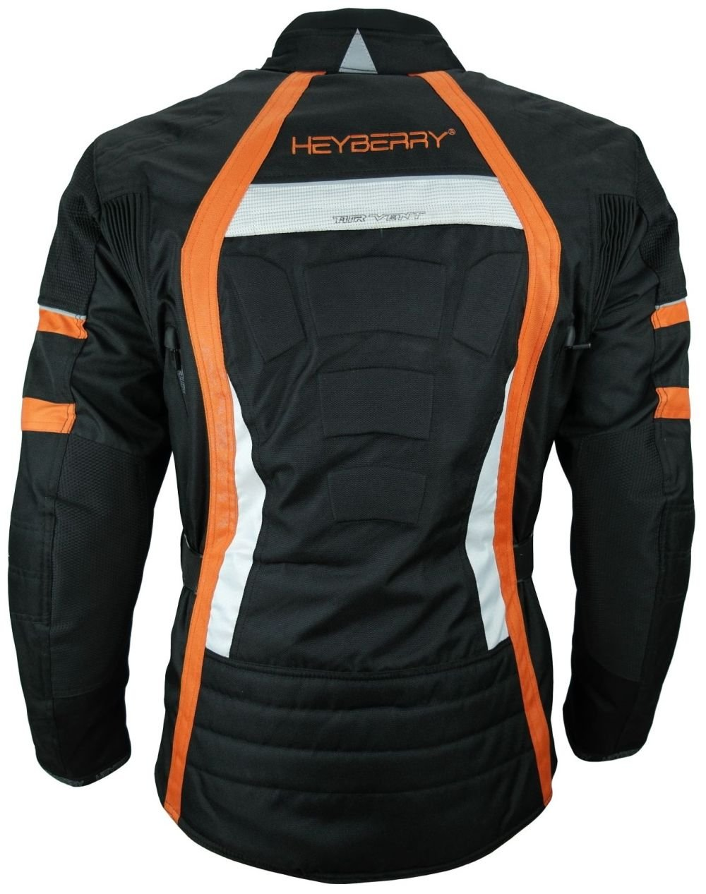 3XL Heyberry Touren Motorrad Jacke Motorradjacke Textil schwarz orange Gr