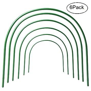 Juego de 6 túneles de jardín para caseta de cultivo verde.: Amazon.es: Hogar