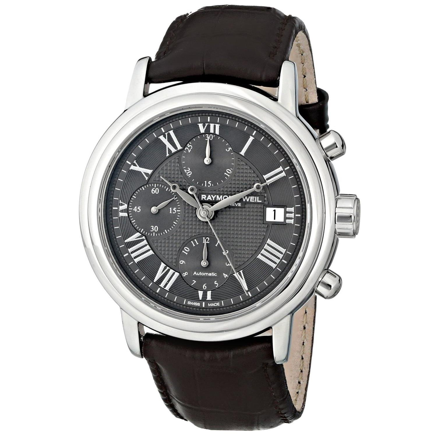 88 Rue du Rhone Men s 87WA120048 Stainless Steel Watch with Black Leather Strap