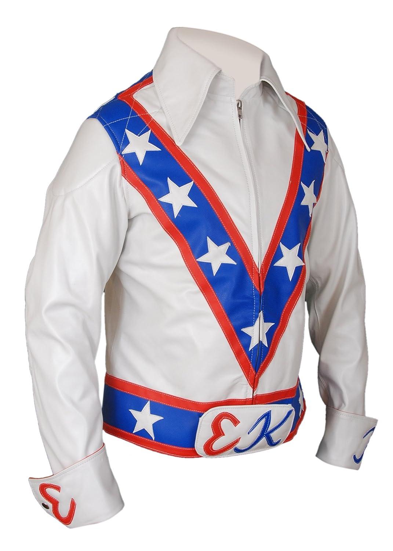 ac50e8961 Flesh & Hide F&H Men's Evel Knievel Genuine Leather Jacket at Amazon ...