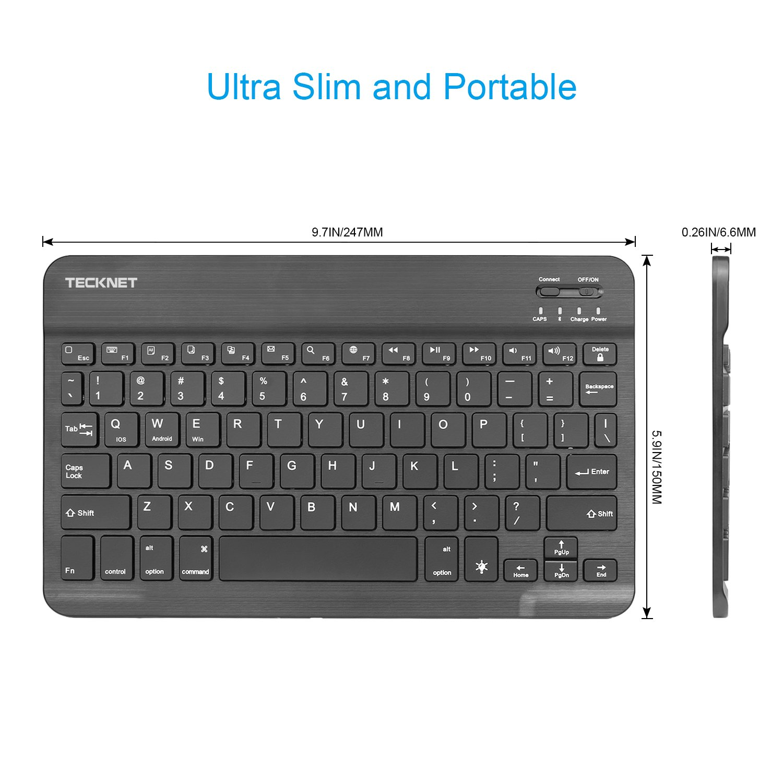 Amazon.com: Backlit Bluetooth Keyboard, TeckNet Universal Ultra-Slim  Portable Illuminated 7-Colors Adjustable Bluetooth Wireless Keyboard:  Computers & ...