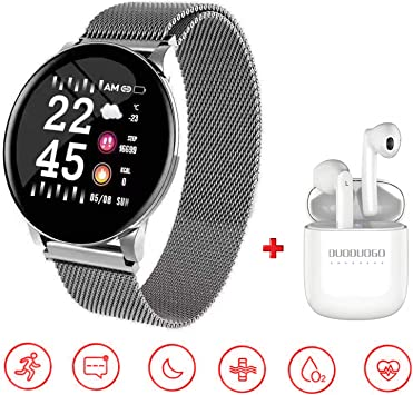 DUODUOGO Smartwatch Reloj Resistente, Smartwatch Reloj Resistente ...