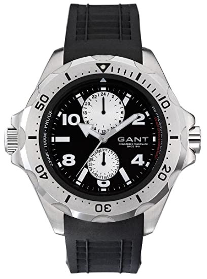 GANT Ocean-Grove W10613 - Reloj de caballero de cuarzo, correa de goma color negro: Amazon.es: Relojes