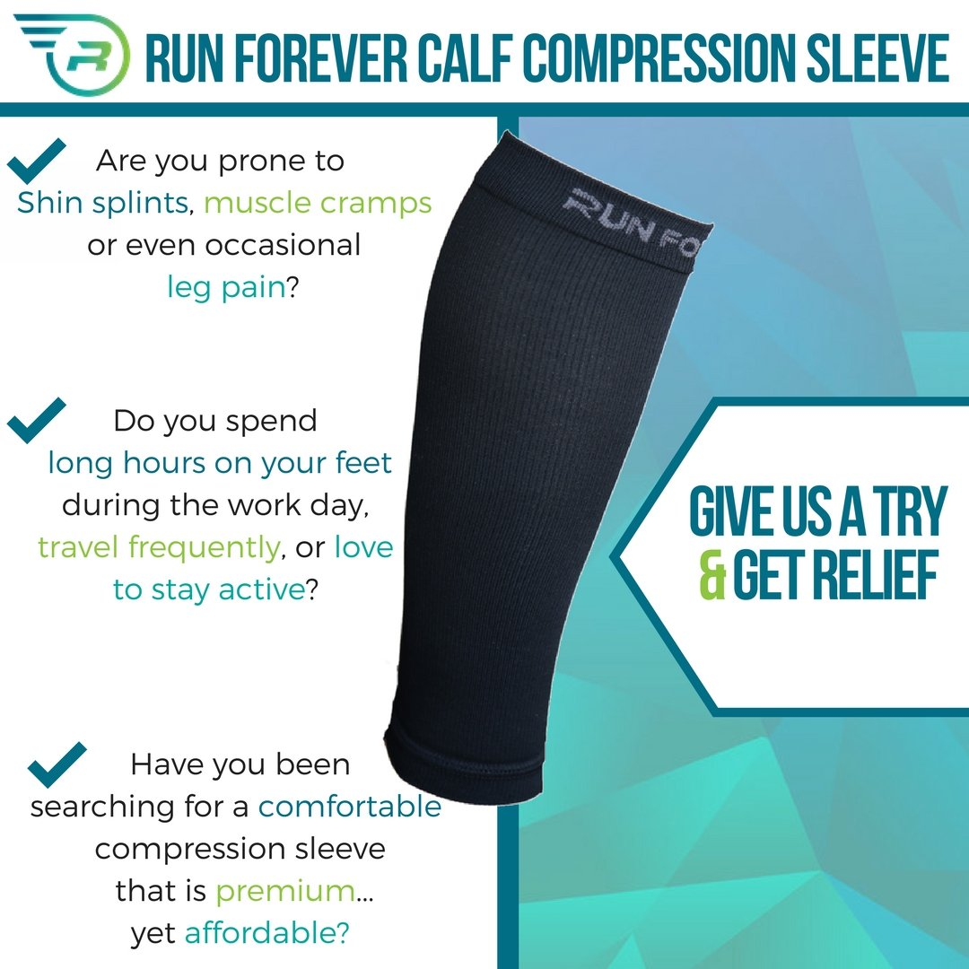 f39d7be8e32418 Calf Compression Sleeve - Leg Compression Socks for Shin Splint, & Calf  Pain Relief - Men, Women, and Runners - Calf Guard for Running, Cycling,  Maternity, ...