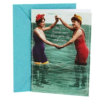 Amazon Hallmark Shoebox Birthday Card For Friend Vintage Women