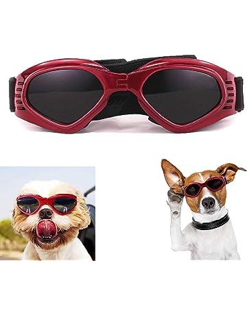 a9d784d2f5 XUNKE Gafas de Sol para Perros, Perro Gafas para Perros pequeños y medianos  Impermeable Plegable