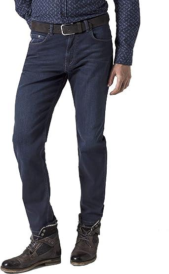 Bugatti Pantalones vaqueros para hombre, corte regular, color azul oscuro (número de artículo: 3280D-16640-293)