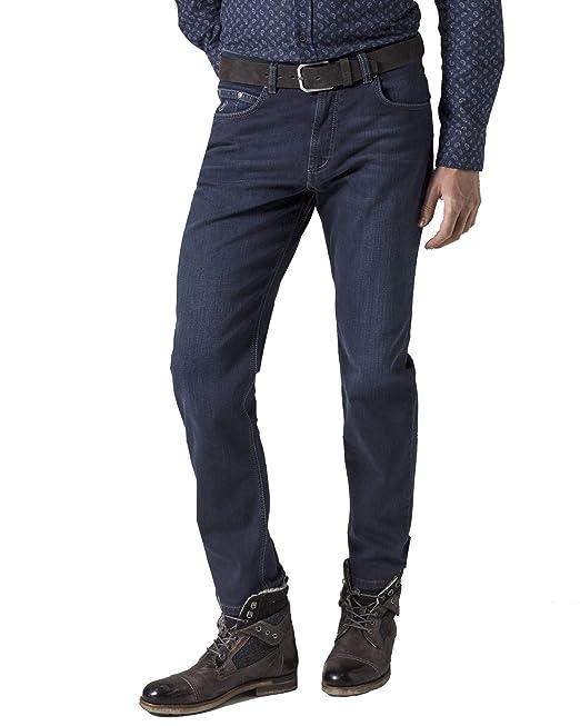 Blue Bugatti Regular Fit Straight Jeans
