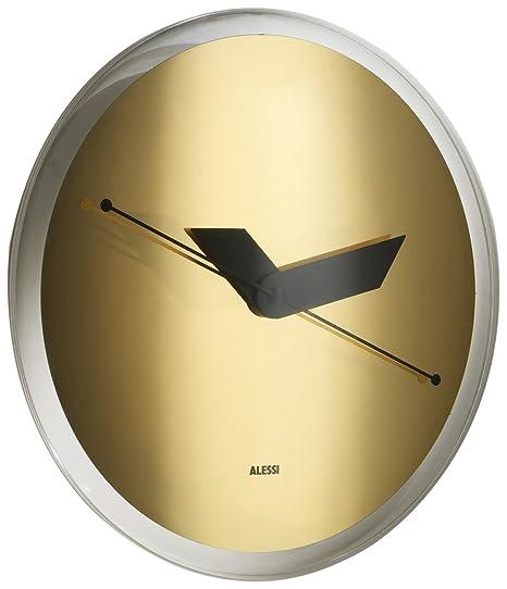 Alessi AM31 6 Sole-Gold Orologio da Parete in Resina Termoplastica, Oro