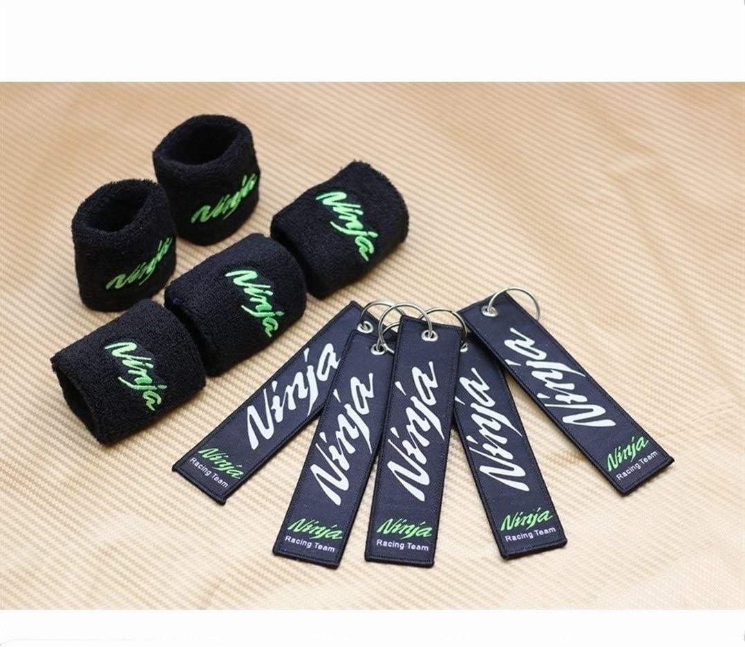 Calcetines de Motocicleta Cubre Amp Verde//Negro Color Entera for Kawasaki ZX10R Ninja EX300 ZX636R Z750 Freno;Embrague embalse Llavero Regalo Calcetines Color : 1 PCS Black Ninja
