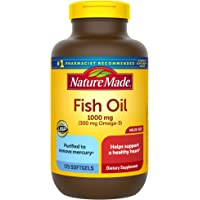 Nature Made Fish Oil 1000 mg Softgels, 175 Count Value Size for Heart Health† (Packaging May Vary)