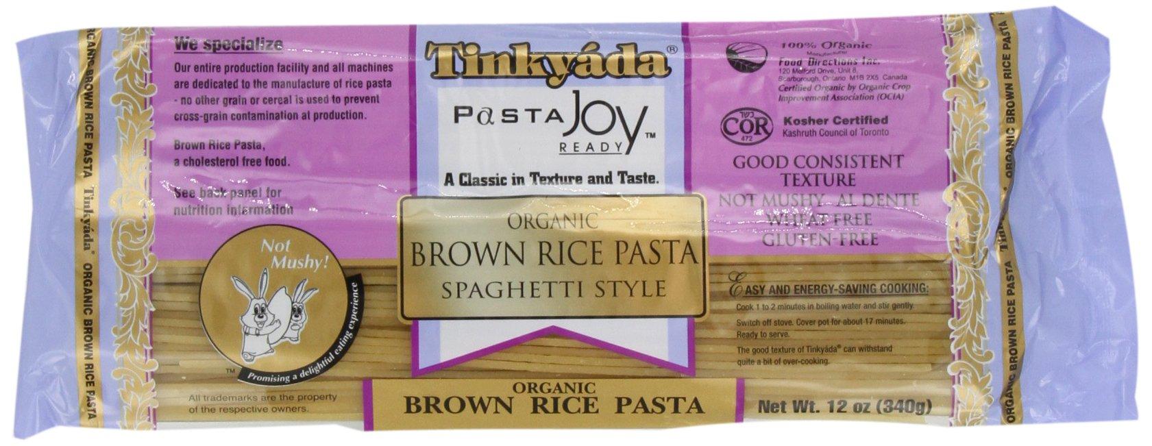 Tinkyada Brown Rice Pasta, Spaghetti, Organic, 12-Ounce (Pack of 6) by Tinkyada