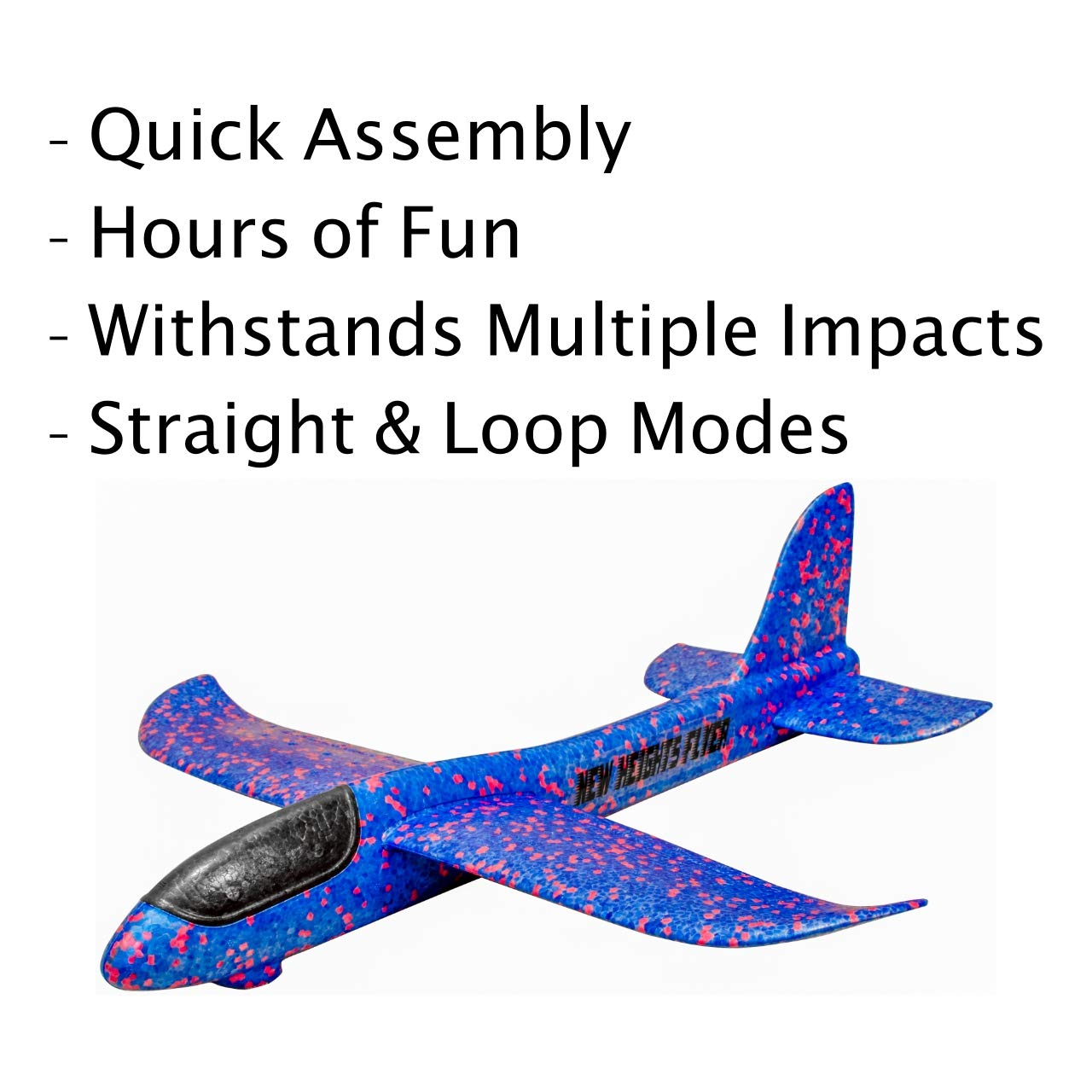 New Heights Flyer Hand Launch Glider Foam Toy Airplane 19 Inch Wingspan 3 Pack (Blue) by New Heights Flyer (Image #2)